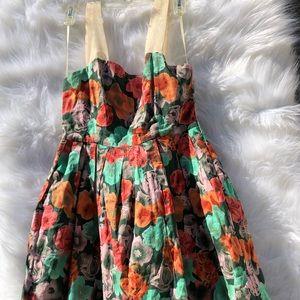 Colorful Fit Flare Sleeveless BB Dakota Dress Sz4